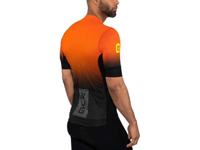 Alé Cycling PRS Dots Miehet Pyöräilypaita lyhythihainen , oranssi/musta